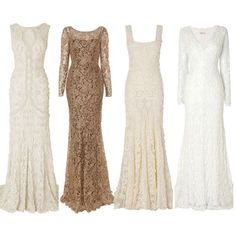 1920s Vintage wedding dresses ❤ liked on Polyvore