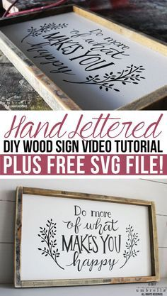 diy holz Hand Lettered DIY Wood Sign Video Tutorial - making it in the mountains Woodworking Projects Diy, Diy Wood Projects, Woodworking Plans, Wood Crafts, Popular Woodworking, Woodworking Furniture, Woodworking Equipment, Woodworking Store, Diy Crafts