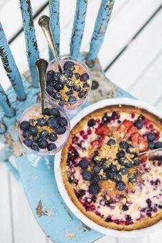 Inkan punaherukka-mustikkapiirakka. Redcurrant and blueberry pie. | Unelmien Talo&Koti Kuva: Hanne Manelius