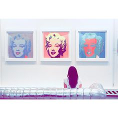 Andy Warhol exhibition in Toronto, Canada. The famous Marilyn Monroe prints.