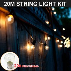String lights along your fence for backyard lighting is stylish and functional. http://www ...