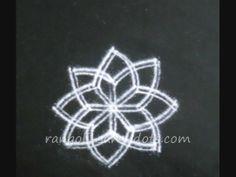 Eight petal lotus kolam - version - 2