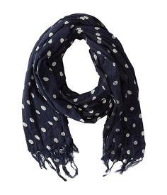 Polka dot printed scarf from Scotch & Soda. #menswear #fashion #accessories