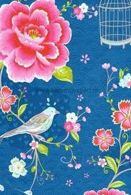 PIP Birds in Paradise donkerblauw