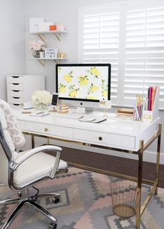 In honor of back to school, I thought I'd share some of my favorite office supplies and decor! As you can see, I love white and gold everything.