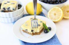 Receta: Barras de limón y blueberry