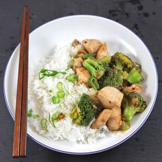 Quick and easy asian style stir fry with chicken and broccoli. [Recipe]