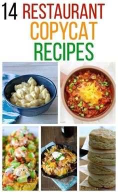 14 Restaurant Copycat Recipes - recipes from The Cheesecake Factory, Panera Bread, and Olive Garden. #copycat #recipe