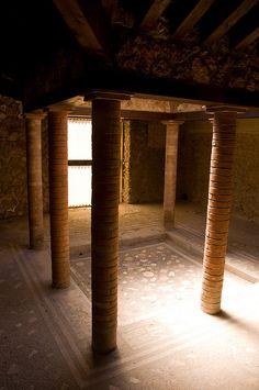 Roman villa amongst the ruins of Pompeii, Italy