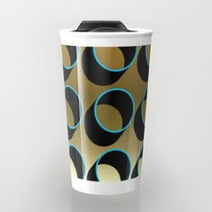 "Take your coffee to go with a personalized ceramic travel mug.  Double-walled with a press-in suction lid, the two-piece (12oz) design ensures long lasting temperatures while minimizing the risk of spillage from kitchen to car to office. Standing at just over 6"" tall with wrap around artwork, safely sip hot or cold beverages from this one of a kind mug."