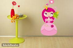 Vinilo infantil de princesita #decoracion #teleadhesivo