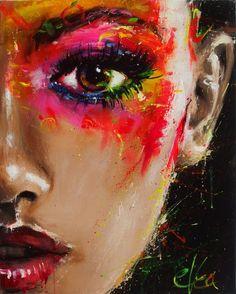 Obecnie na aukcjach Ewa Switala – Let you go – Haar Tutorials Abstract Portrait, Portrait Art, Acrylic Portrait Painting, Eye Painting, Oil Painting On Canvas, Arte Pop, Eye Art, Figurative Art, Watercolor Art