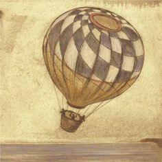 vintage hot air balloon sign option