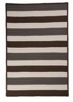 Colonial Mills-Portico Stone Outdoor Area Rug Roll it out and let this striped rug speak for itself. The simple, yet strong colors welcome poolside parties with hassle-free care! Stone Rug, Square Rugs, Braided Rugs, Striped Rug, Modern Area Rugs, Grey Stone, Color Stone, Indoor Outdoor Area Rugs, Contemporary Rugs