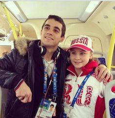 Javier Fernandez and Julija Lipnitskaya