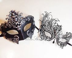 Roman Masquerade Masks Platinum/Silver Themed  by 4everstore