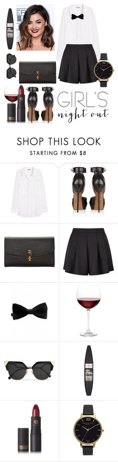 """Girls Night Out"" by nikkiemery ❤ liked on Polyvore featuring H&M, Givenchy, Dolce&Gabbana, Miss Selfridge, Nordstrom, Fendi, Maybelline, Lipstick Queen and Olivia Burton"