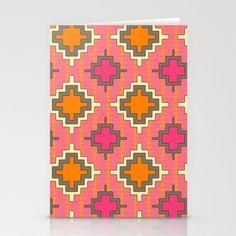 tangerine kilim Stationery Cards by Sharon Turner - $12.00