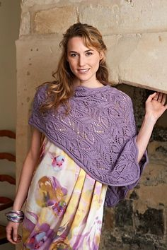 This garment starts with a wide rectangle. This is knitted in one piece, before being split to create the neck opening. The front and back are then worked separately before being grafted back together. An i-cord edging is then added at the neck and around the outer edges. If you do not want to graft the pieces together, then you could simply cast each side off, and sew them together, however, this won't give such a neat finish. File includes both written and charted instructions.To fit bust…