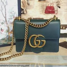 Gucci 431384 GG Marmont Leather Small Shoulder Bag 2016