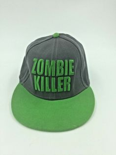 pick up 96777 2d4ed Walking Dead Zombie Killer Adjustable Cap AMC Gray Green  fashion  clothing   shoes  accessories  mensaccessories  hats (ebay link)