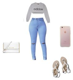 Untitled #174 by hodges473 on Polyvore featuring polyvore fashion style adidas Abercrombie & Fitch MICHAEL Michael Kors clothing