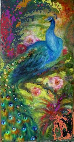 jeweled peacock art by sharles, via Flickr