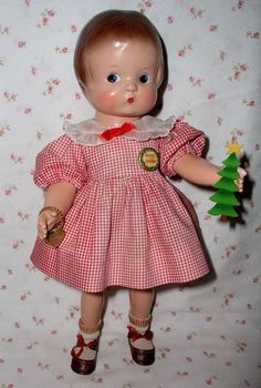 RAREST Effanbee 1946 Patsy-PATRICIA Doll  -- MINT w/ Magnetic Hands / Painted Side-Glancing Eye & Heart Shaped Pupils