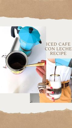 My iced cafe con leche recipe is so addicting and very Miami. And I wanted to share it with you because summer is here and iced coffee is where it's at. Best Iced Coffee, My Coffee, Coffee Shop, Gold Rimmed Glasses, Chocolate Covered Espresso Beans, Cuban Coffee, Summer Is Here, Coffee Recipes