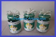 Resultado de imagem para potes decorados para bebe em eva