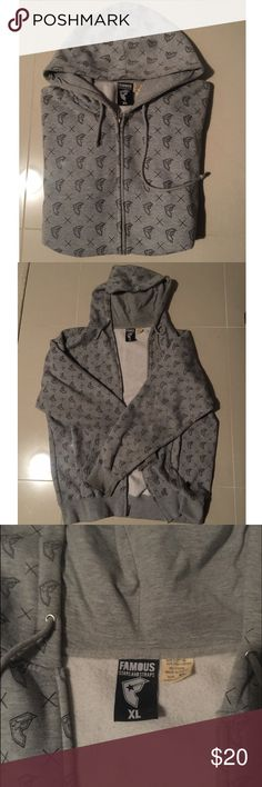 Famous men's hoodie jacket Famous Stars & Straps men's zip-up hoodie jacket. Very soft and comfortable. Great pre-owned condition. Famous Stars & Straps Sweaters Zip Up