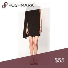 Zara black cape dress xs Brand new,❌NO TRADE‼️ Zara Dresses
