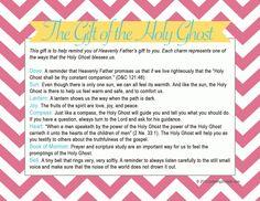 LDS Baptism Talk on the Gift of the Holy Ghost Charm Bracelet - Jonesing2Create