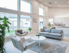 Korkeat ikkunat valaisevat kauniisti vaalean olohuoneen.⭐️  #white #window #ikkunat #home #house #inspiration #decor Outdoor Furniture Sets, Outdoor Decor, House, Home Decor, Decoration Home, Home, Room Decor, Home Interior Design, Homes