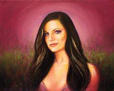 Oil Painting – Portrait, Girl, Brunette, Art by Jay Battikha @ http://smartistic.biz
