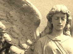 Angel at Holy Sepulchre Cemetery in Omaha, NE - Celestial Reflections Photography