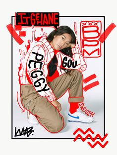 Peggy Gou Bomber Doodle on Inspirationde Fashion Graphic Design, Graphic Design Trends, Graphic Design Posters, Graphic Design Illustration, Graphic Design Inspiration, Graphic Design Layouts, Graphic Design Typography, Design Logo, Game Design
