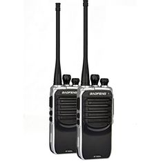 Baofeng BF-888SA UHF Walike Talkie 400-480MHZ Long Distance Range Communication High Battery Pack 1500Mhz Two-Way Radios (Black)(Pack of 2)