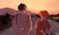 Aww cute!! Look at how Hinata's looking at Kageyama!!! ^_^ KageHina!!! <3