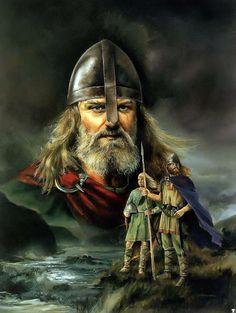 Los hombres del Norte, Vikingos. Ilustración: Chris Collingwood