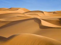 Sand Dunes in the Libyan Desert Libya