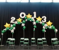graduation backdrop Stage backdrop for the students graduating - - 5th Grade Graduation, Nursing School Graduation, Kindergarten Graduation, Graduation Decorations, Ceremony Decorations, Balloon Decorations, Graduation Ideas, Graduation Backdrops, Graduation Centerpiece