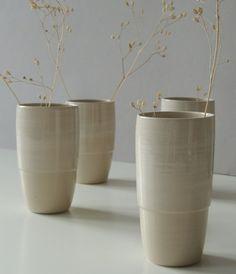 Vasen - vier Bechervasen 15-74 - ein Designerstück von s_wellmeier bei DaWanda