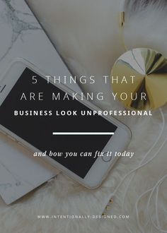 One of our biggest fears as small business owners is that our business will not appear professional and legit to others. We worry that it will look like we did it ourselves or that it won't reach the right ideal client. There are several things you can do to make sure that your brand and website come across as professional and well thought out.