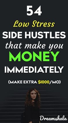 54 low stress side hustles that make you money immediately. Earning money happens to be related … Earn Money From Home, Make Money Fast, Earn Money Online, Online Jobs, Online Careers, Online Courses, Be Your Own Boss, Money Matters, Work From Home Jobs