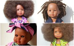 Black dolls with curly to kinky natural hairwere virtually non-existent when I was growing up. These days, theyare still a challenge to find, but I've done some of the homework for you wit…