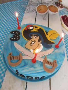Piet Piraat taart voor Jonas' 3e verjaardag...