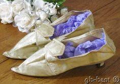 Antique 1800s Silk Wedding Shoes Philadelphia Estate EARLY #Heels #Wedding