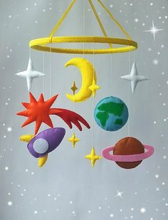Space mobile Baby crib mobile Nursery decor Rocket by ZooToys