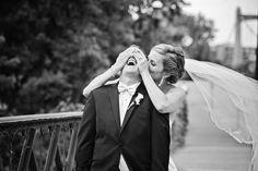 Photo by Angeli. #firstlook #weddingphotos #minnesotaweddingphotography